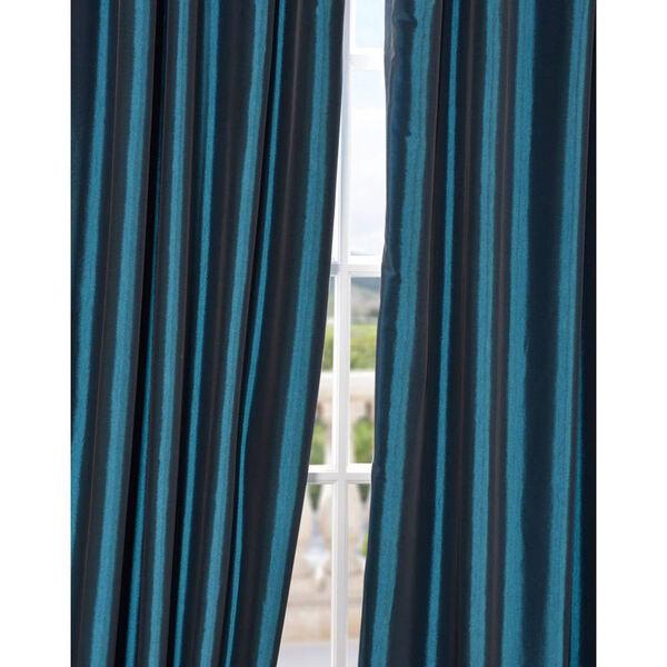 Mediterranean 108 x 50-Inch Blackout Faux Silk Taffeta Curtain Single Panel, image 4