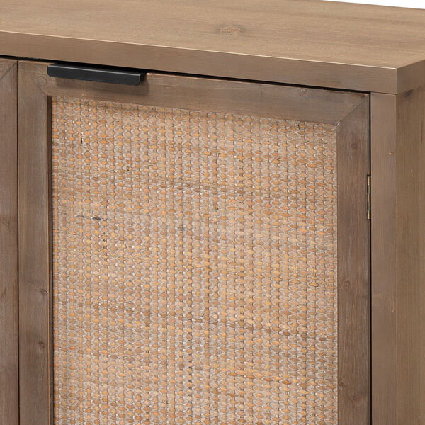 Grace Washed Wood and Black Two Door Accent Cabinet, image 3