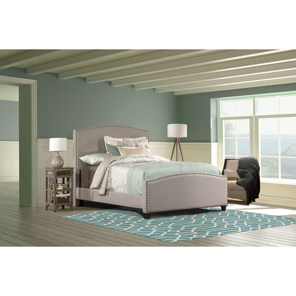 Kerstein Dove Gray King Complete Bed With Rails, image 1