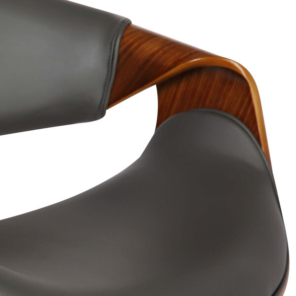 Butterfly Walnut and Gray 33-Inch Bar Stool, image 6