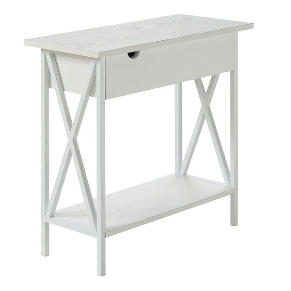 Tucson Flip Top End Table with Charging Station and Shelf, image 6
