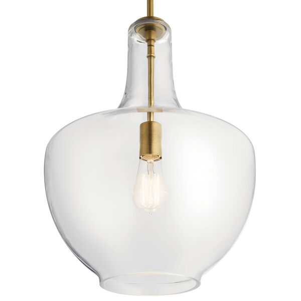 Everly Natural Brass 14-Inch One-Light Pendant, image 3