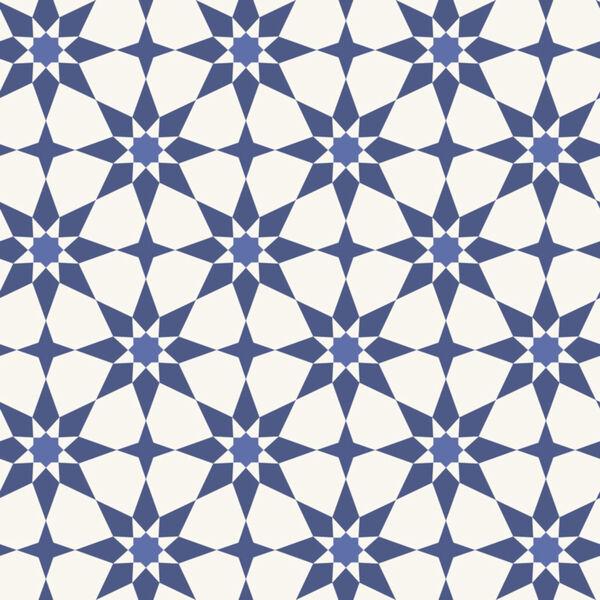 Soleil Blue Santorini Peel and Stick Wallpaper, image 2