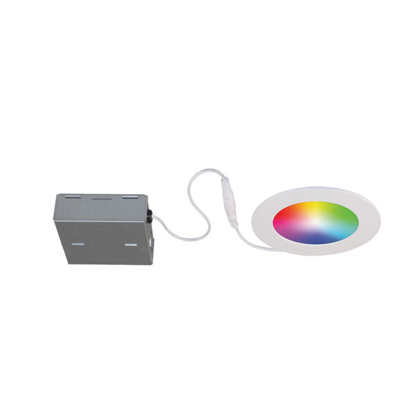 Matte White RGB LED Recessed Fixture Kit, image 1
