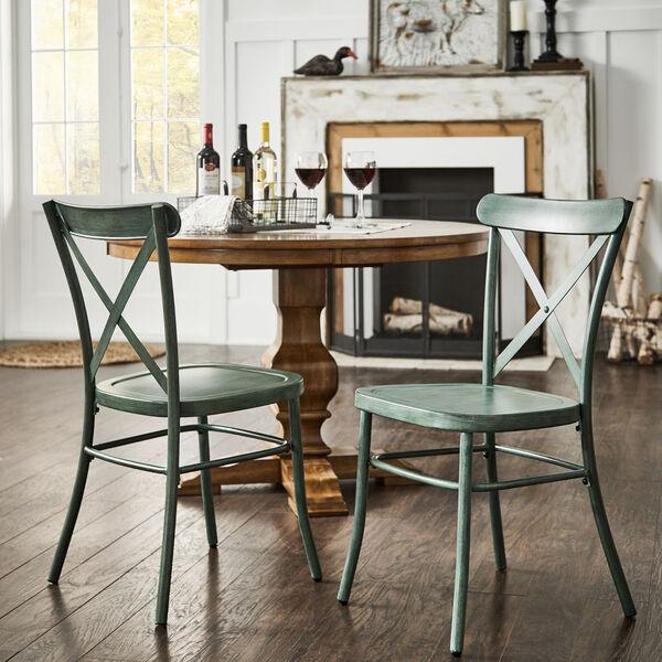 Roman Green Metal Dining Chair, image 6