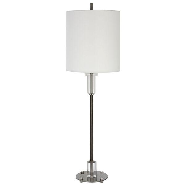 Aurelia Polished Nickel One-Light Buffet Lamp, image 5