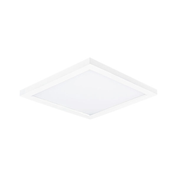 Chip White 6-Inch 3000K Led One-Light Flush Mount with Polycarbonate Shade, image 1