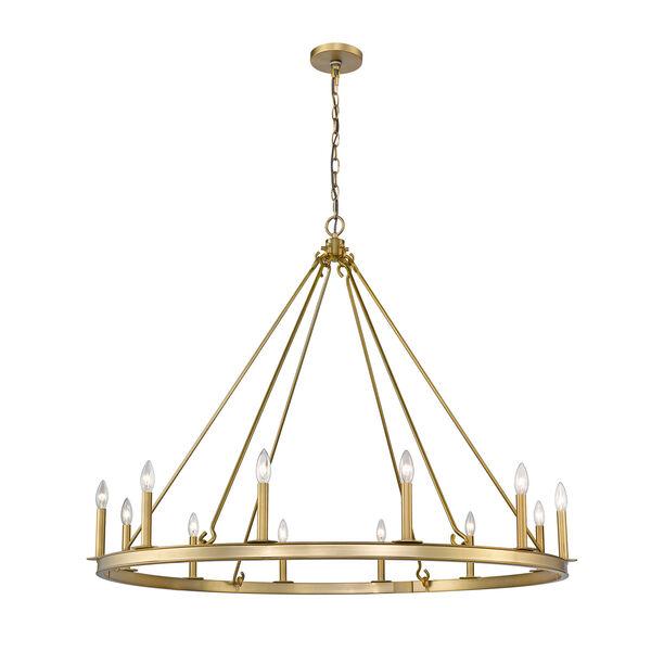 Barclay Olde Brass 48-Inch 12-Light Chandelier, image 1