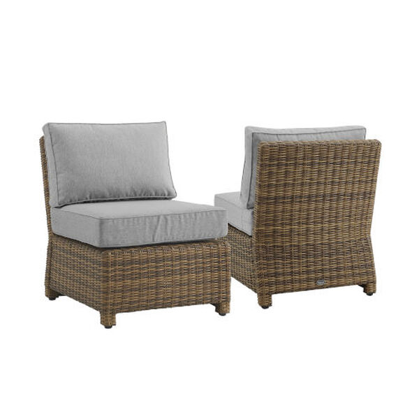 Bradenton Gray Weathered Brown Two-Piece Outdoor Wicker Chair Set, image 4