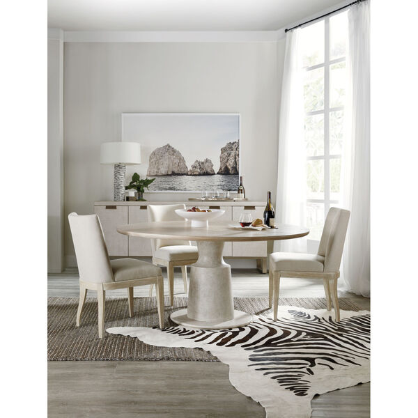 Cascade Taupe Round Pedestal Dining Table, image 4