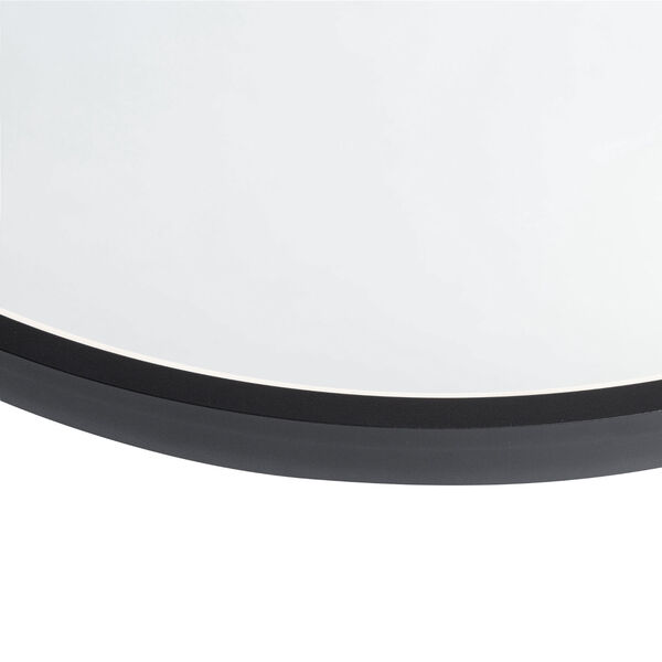 Reflections Matte Black 24-Inch LED Wall Mirror, image 2
