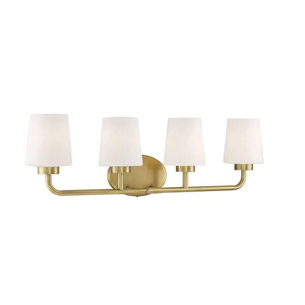 Capra Warm Brass Four-Light Bath Vanity, image 3