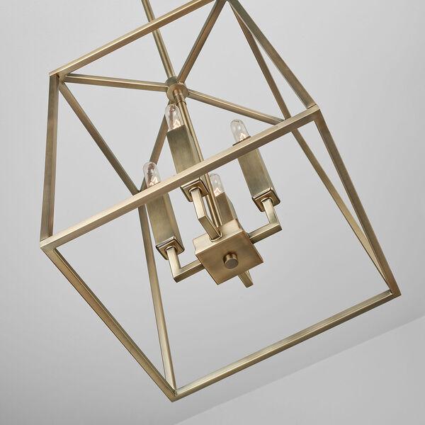 Thea Aged Brass Four-Light Foyer Pendant, image 5