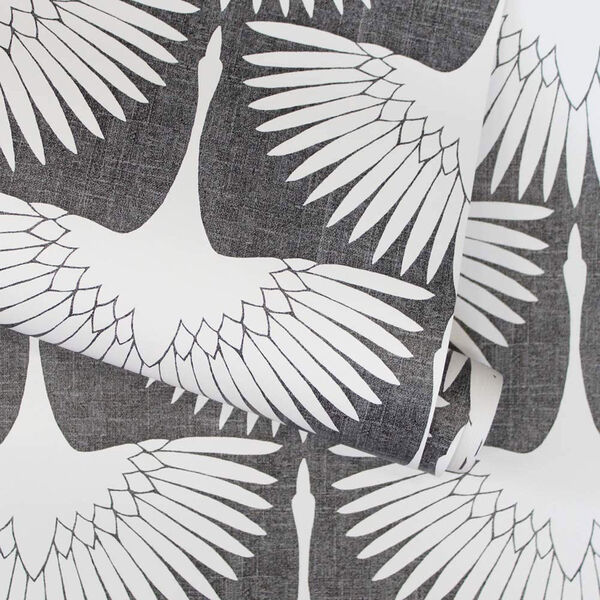 Feather Flock Storm Grey 28 Sq. Ft. Peel and Stick Wallpaper, image 5