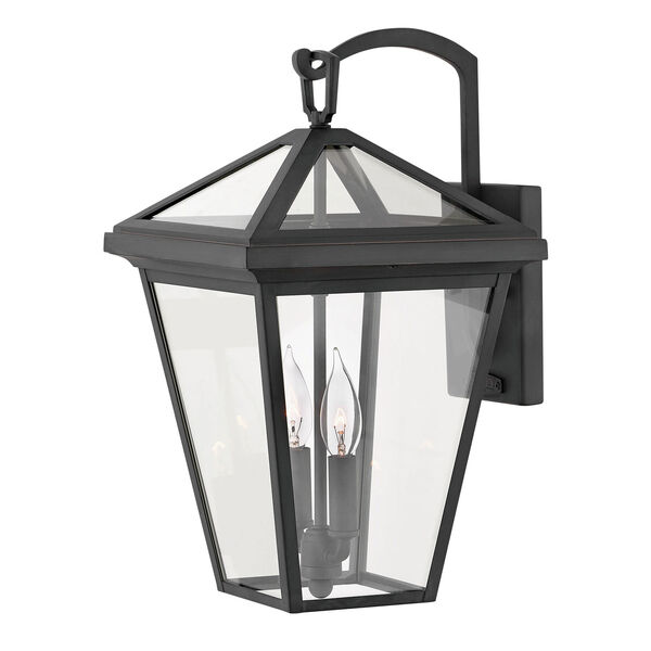 Alford Place Museum Black Two-Light Outdoor Medium Wall Mount, image 1