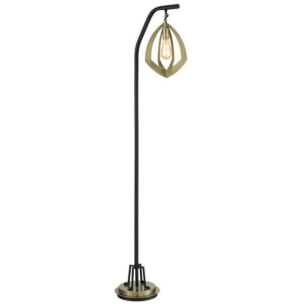 Rogerton Antique Brass 69-Inch One-Light Floor Lamp, image 1