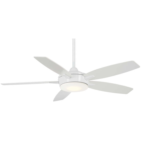 Espace White LED Ceiling Fan, image 1