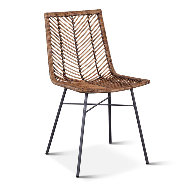 Bali Brown Honey Washed Dining Chair, Set of 2, image 2