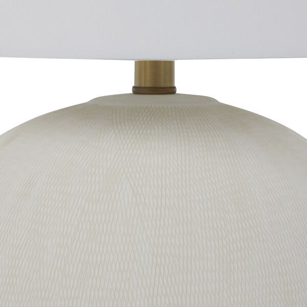 Wheeler White and Antique Brass One-Light Table Lamp, image 5