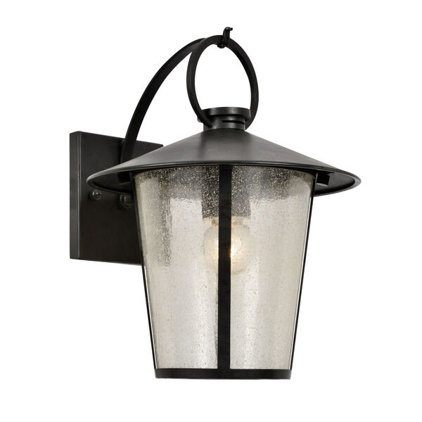 Andover Matte Black One-Light Outdoor Wall Mount, image 1