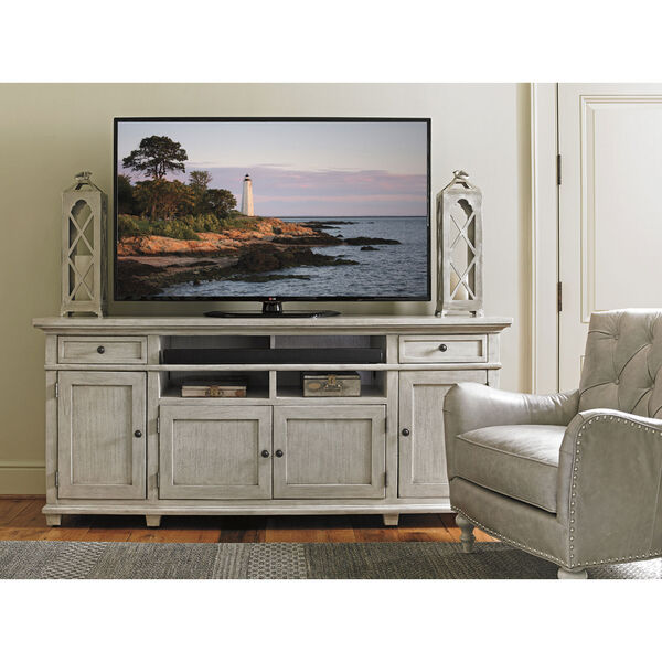 Oyster Bay White Kings Point Large Media Console, image 2