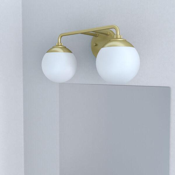 Hepburn Painted Modern Brass Two-Light Bath Vanity, image 3