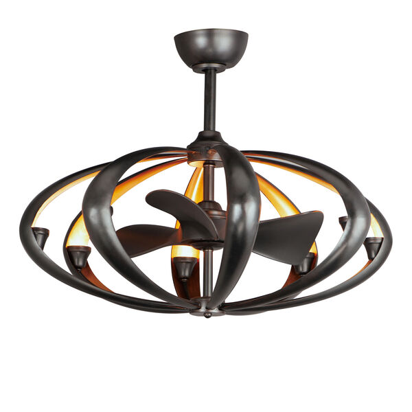 Ambience Bronze and Gold Eight-Light LED Fandelight, image 1