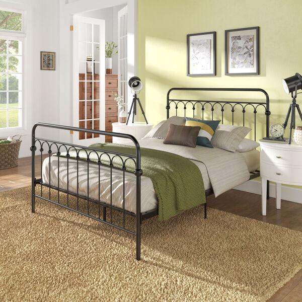 Isobel Black Full Metal Arches Platform Bed, image 6