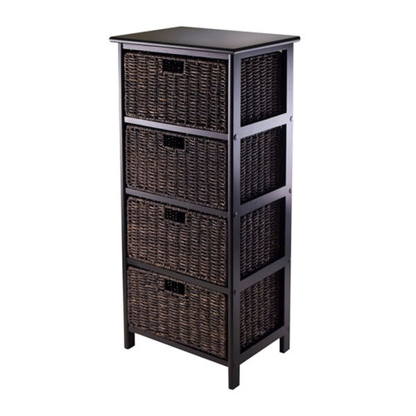 Omaha Storage Rack with Four Foldable Baskets, image 1