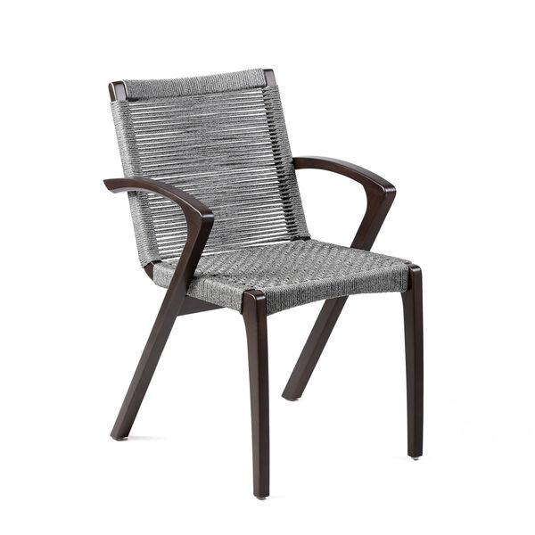 Brielle Dark Eucalyptus Outdoor Dining Chair, Set of Two, image 2