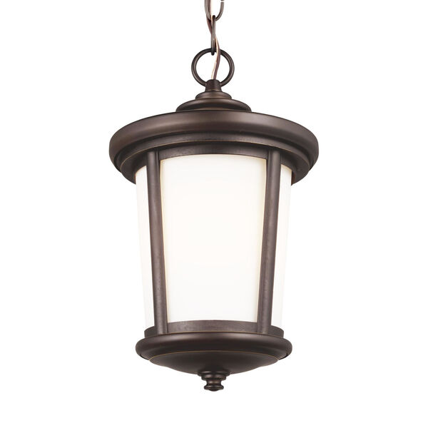 Eddington Antique Bronze One-Light Outdoor Pendant with Cased Opal Etched Shade, image 3