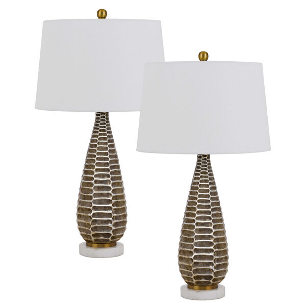 Mankato Distressed Silver Two-Light LED Table Lamp, Set of Two, image 1