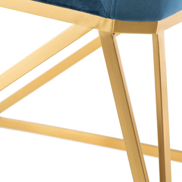 Caprice Peacock and Gold Dining Chair, image 4
