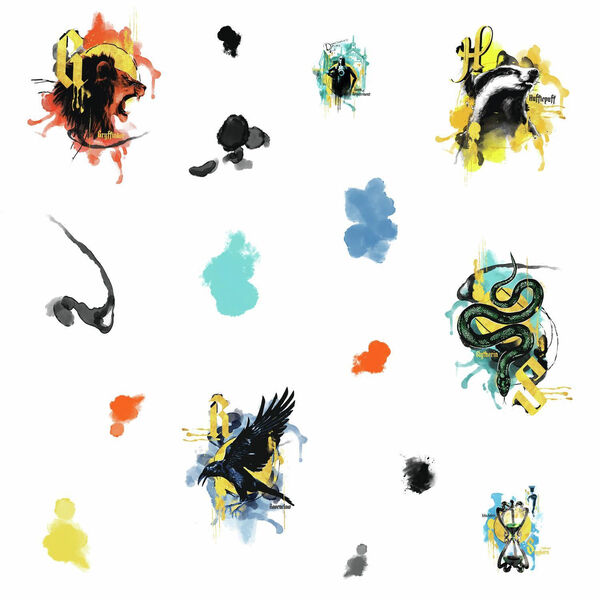 Harry Potter Hogwarts House Orange, Yellow And Blue Peel and Stick wall Decal - SAMPLE SWATCH ONLY, image 2