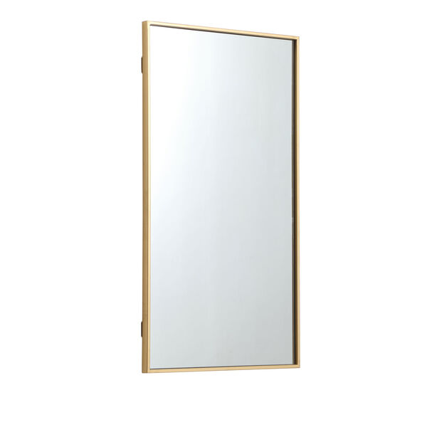 Eternity Brass 20-Inch Rectangular Mirror with Metal Frame, image 4