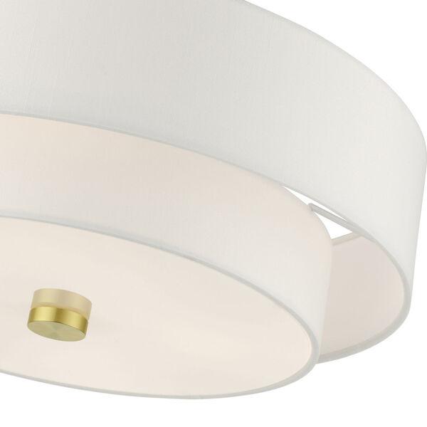 Meridian Satin Brass 18-Inch Four-Light Semi-Flush Mount, image 5
