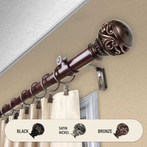 Isabella Bronze 240-Inch Curtain Rod, image 2