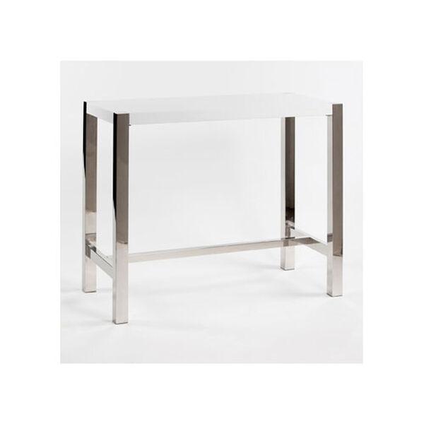 Riva White Bar Table, image 1