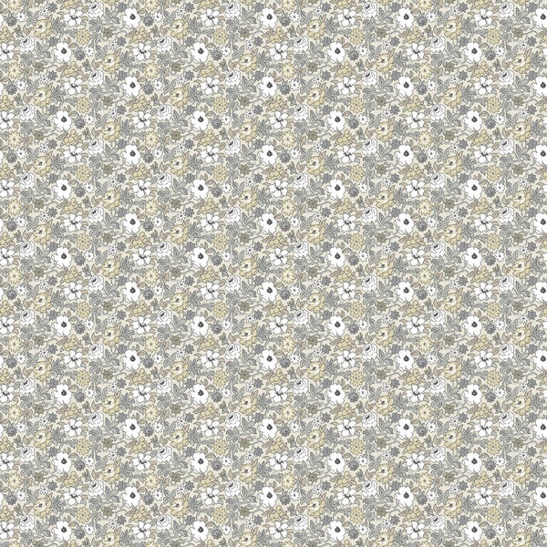 Floral Ditzy Vine Gray Peel and Stick Wallpaper - SAMPLE SWATCH ONLY, image 1