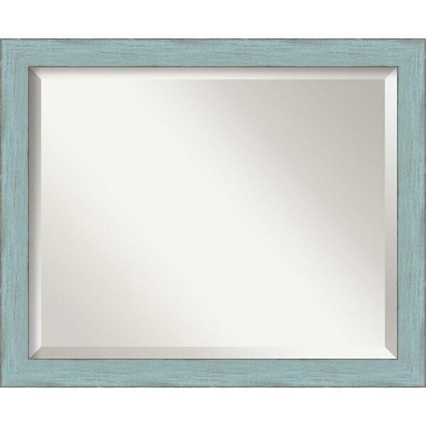 Sky Blue Medium Rustic Wall Mirror, image 1