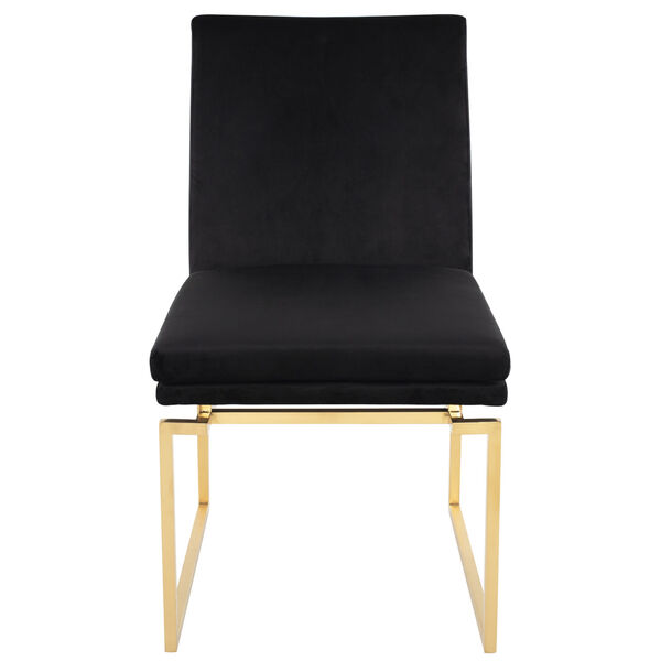 Savine Black and Brushed Gold Dining Chair, image 6