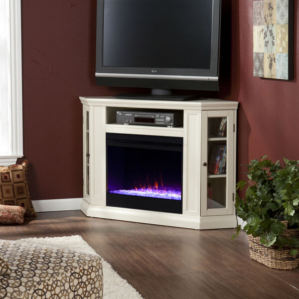 Claremont Ivory Color Changing Convertible Electric Fireplace, image 4