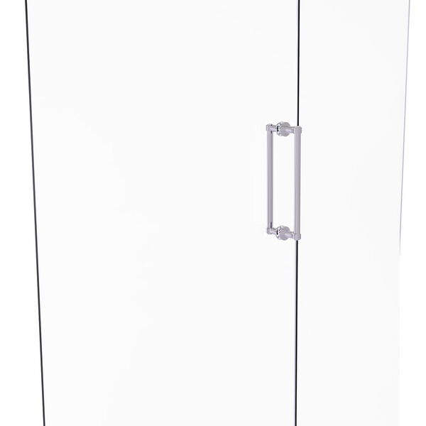 Polished Chrome 12-Inch Back to Back Shower Door Pull, image 1
