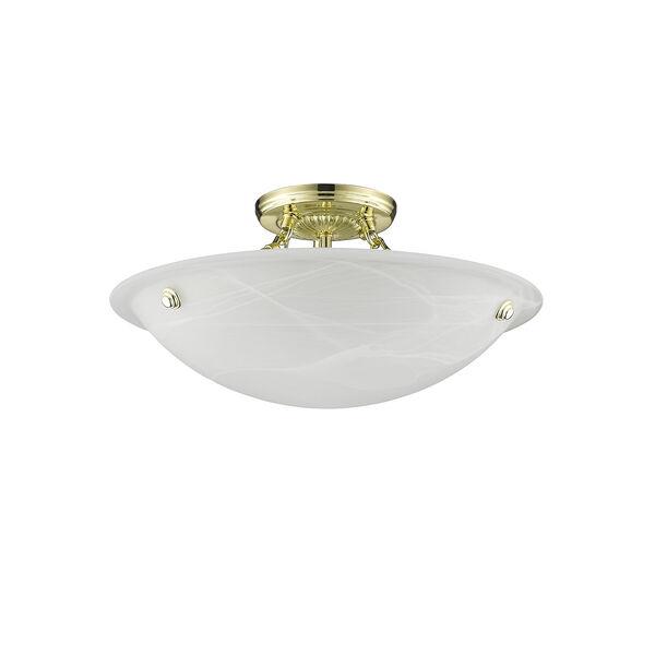 Polished Brass Semi-Flush, image 2