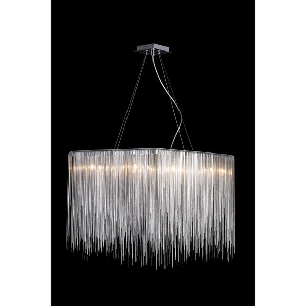 Fountain Blvd. Chrome 24-Inch Eight-Light Square Chandelier, image 1