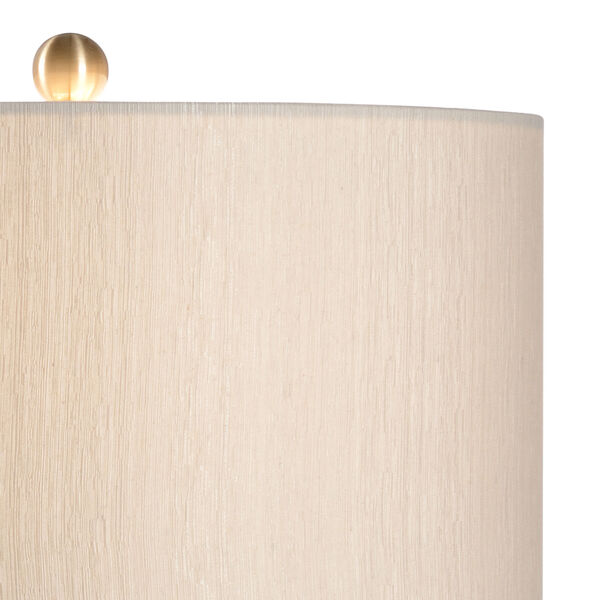 White and Cream One-Light Table Lamp, image 3