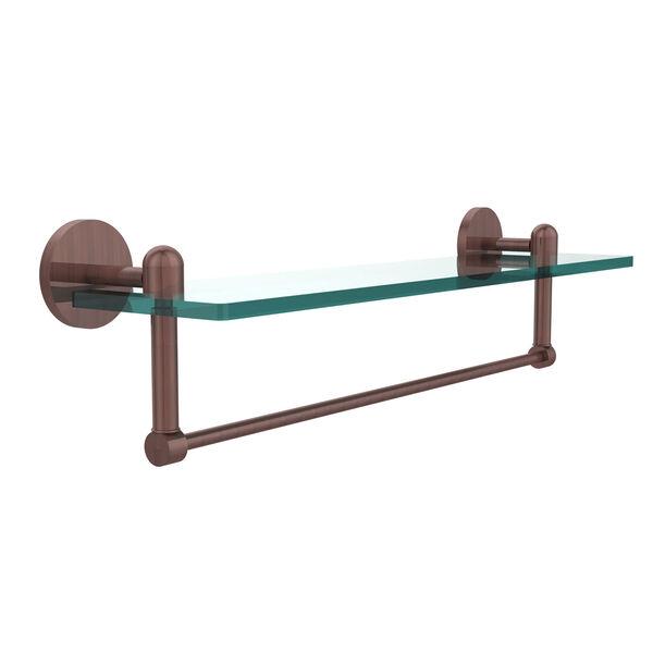Tango Antique Copper Single Shelf with Towel Bar, image 1