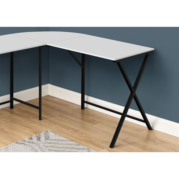 White and Black Computer Desk, image 3