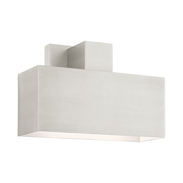 Lynx Brushed Nickel Nine-Inch One-Light Outdoor ADA Wall Sconce, image 1