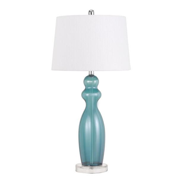 Bristol Aqua and White One-Light Table Lamp, image 1